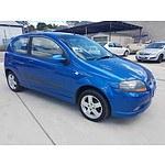 2/2007 Holden Barina  TK MY08 3d Hatchback Blue 1.6L