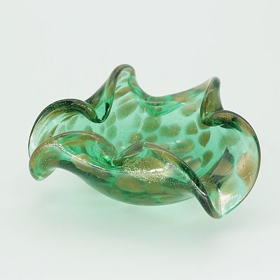 Speckled Murano Art Glass Dish