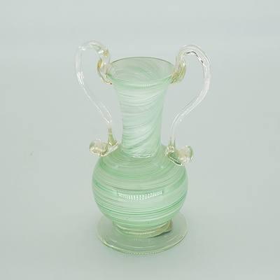 Murano Swirled Glass Ewer