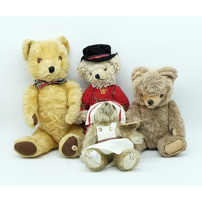 Group of Teddies Including Gwentoy Bear, Blythswood Bear, Clemens Bear and a Treasures Inc Bear