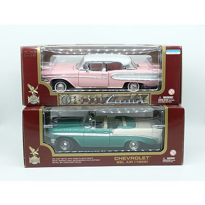 Two Chevrolet Bel Air 1:18 Scale Model Cars