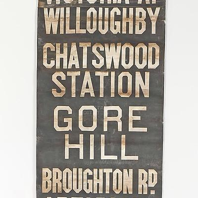 Vintage Sydney Train Station Scroll Banner