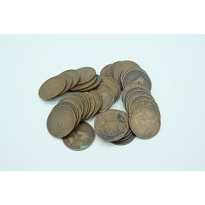 Forty One George V Pennies