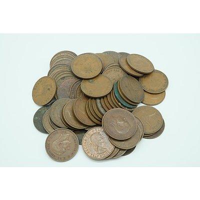 Seventy Five George VI Australian Pennies