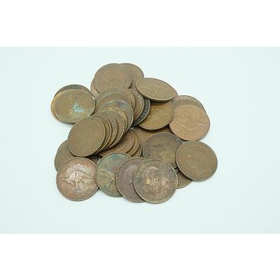 Forty One Commonwealth of Australian George VI to Elizabeth II Pennies
