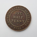 Scarce Commonwealth of Australia 1923 Half Penny