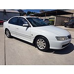 11/2002 Holden Berlina  VY 4d Sedan White 3.8L