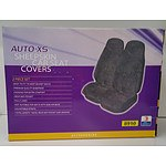 Auto -XS Sheepskin Car Seat Covers - 2 Piece Set
