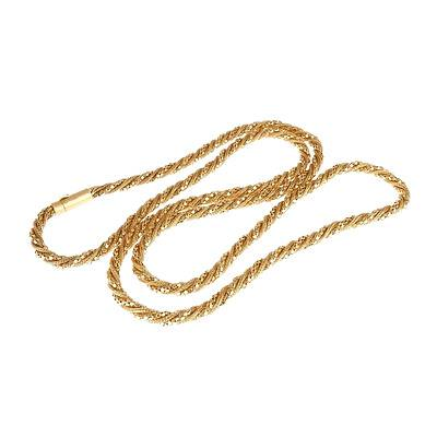 18ct Yellow Gold Fancy Twisted Rope Chain, 54g