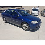 10/2003 Holden Astra CD TS 4d Sedan Blue 1.8L
