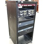 Mobile Rack with 8 Audio Units