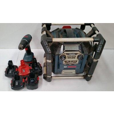 Bosch Power Box Radio/Powerboard & Bosch Cordless Drill