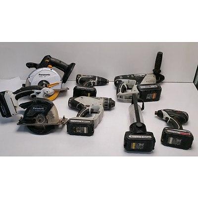 Assortment of Panasonic Power Tools - Lot of 7
