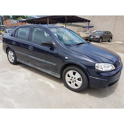 12/2002 Holden Astra CD TS 4d Sedan Blue 1.8L