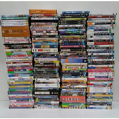 Lot of Approx 200 DVDs and Xbox 360 Games