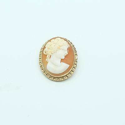 Cameo Brooch in 9ct Yellow gold Mount