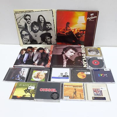 CDs, Two Vinyl Records, and Illustrated Biographies of Bob Dylan and the Rolling Stones
