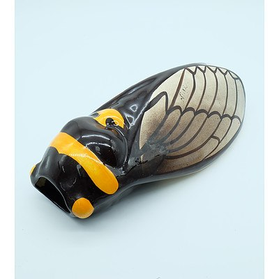 French Cicada Wall Vase