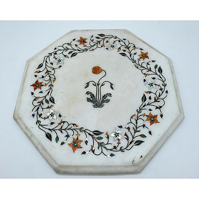 Inlaid Marble Tabletop Agra India