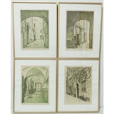 Four Friedrich Jurgenson (1903-1987) Engravings Editions 72 of 100