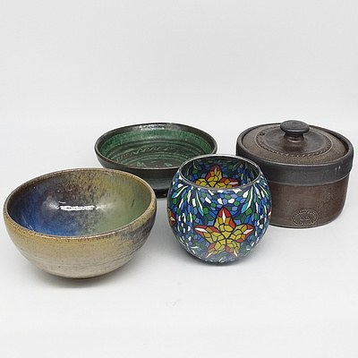 Collection of Stoneware and Pottery Including Bendigo Stoneware