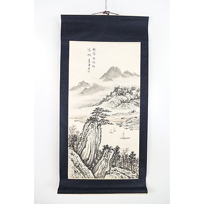Chinese Ink and Wash Hanging Scroll