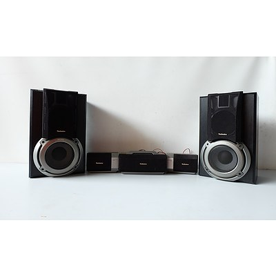 Pair of Technics Subwoofer SB-EH750A and Technics Speaker System SB-PS75