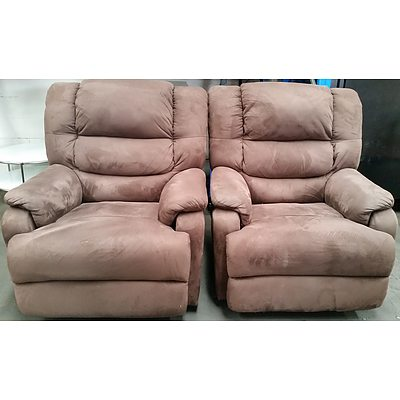 Electric Recliner Armchairs - Lot of Two