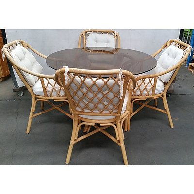 Cane Five Piece Dining Setting