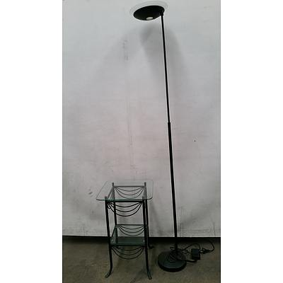 Floor Lamp and Occasional Table