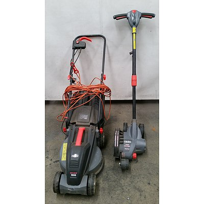 Ozito Electric Lawn Mower and Lawn Edger