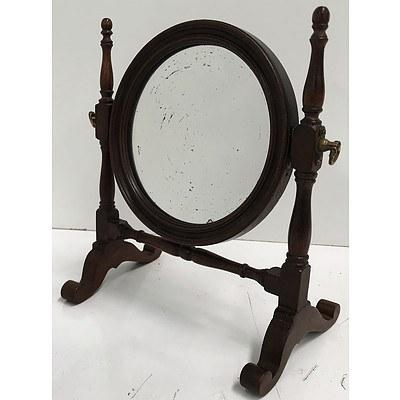 Victorian Mahogany Shaving Mirror