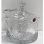 Clarenbridge Lidded Galway Crystal Bowl