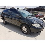1/2007 Chrysler Grand Voyager Limited RG 05 UPGRADE 4d Wagon Black 3.3L