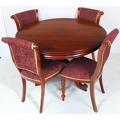 Antique Style Mahogany Dining Suite