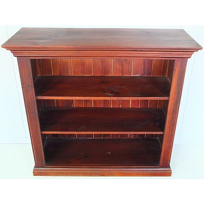 Contemporary Stained Pine Bookshelf