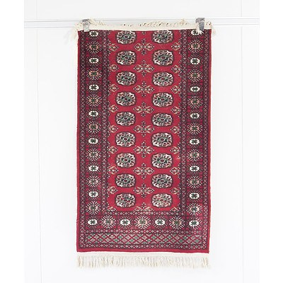Small Hand Knotted Easter Wool Pile Bokhara Rug