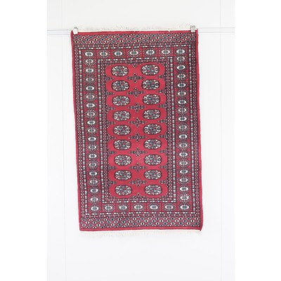 Hand Knotted Eastern Wool Pile Bokhara Rug