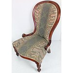 Antique Style Mahogany Nursing Chair