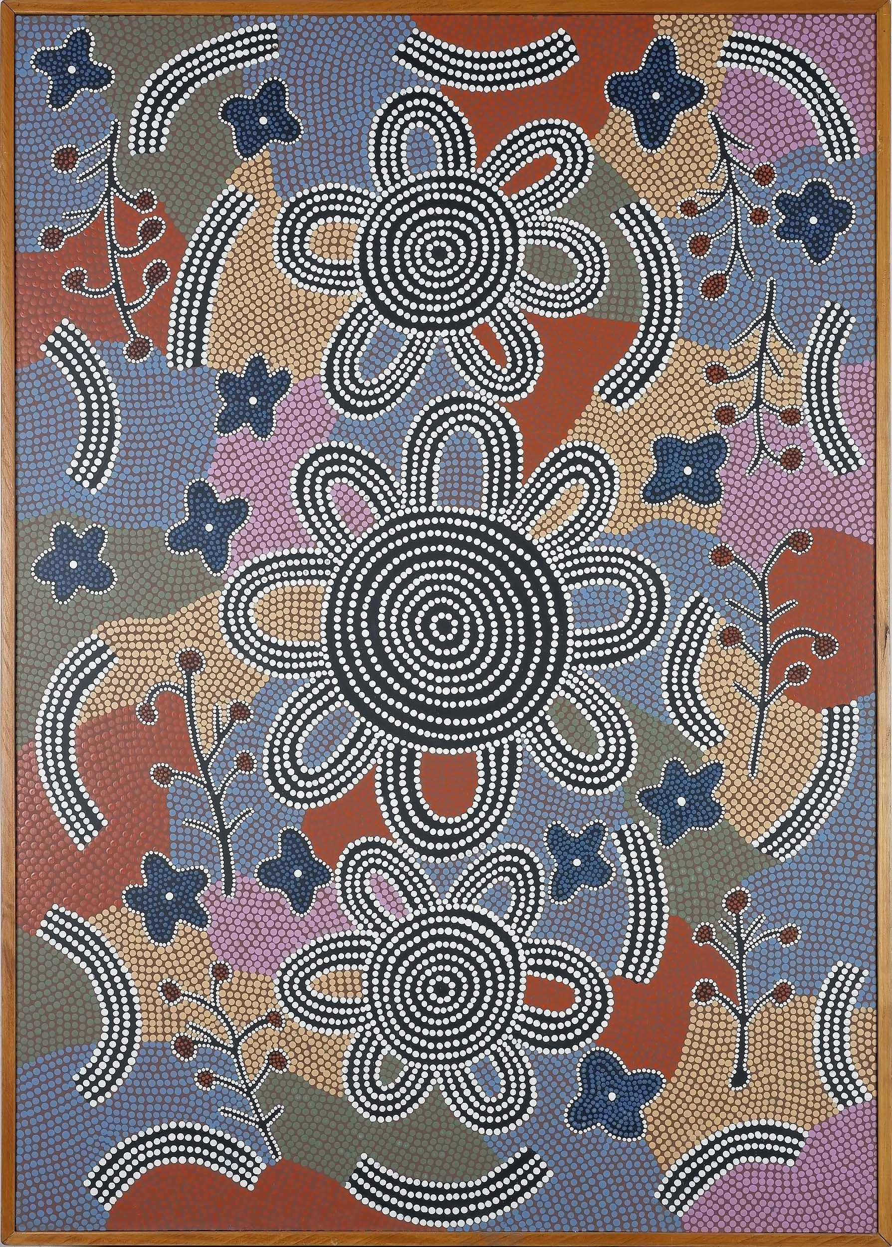 'Attributed to Michael Nelson Tjakamarra (1948-) Honey Ant Dreaming Papunya 1992, Acrylic on Board'