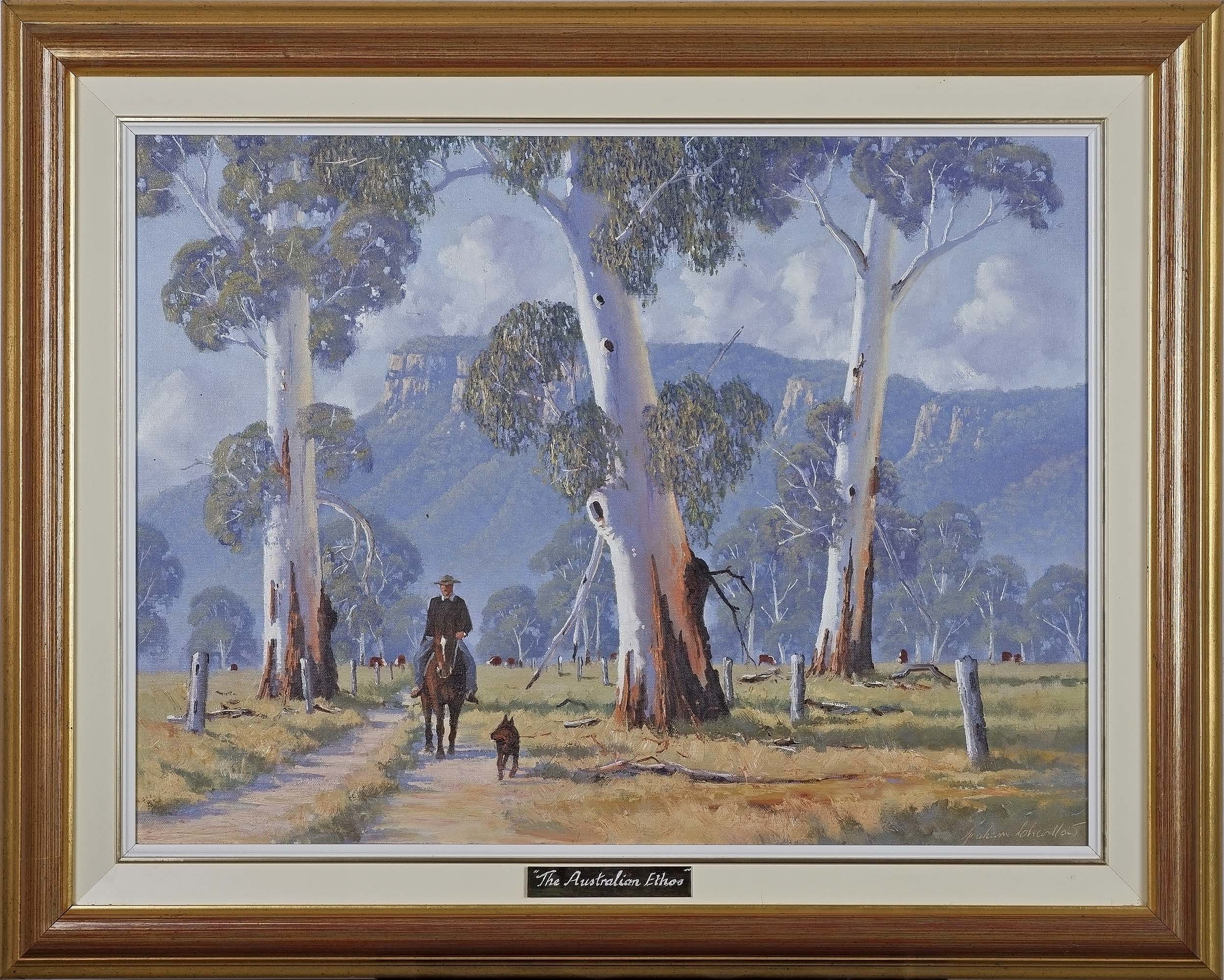 'Graham Charlton (1940-) The Australian Ethos, Oil on Canvas Board'
