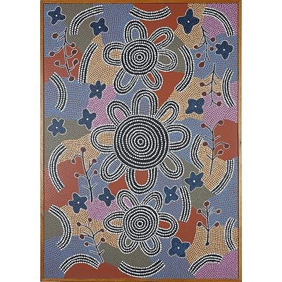 Attributed to Michael Nelson Tjakamarra (1948-) Honey Ant Dreaming Papunya 1992, Acrylic on Board
