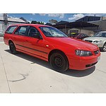 1/2004 Ford Falcon XT BA 4d Wagon Red 4.0L