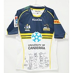 Signed 2013 Brumbies Jersey with Twenty Nine Signatures