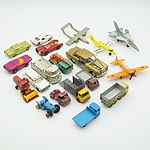 Group of Model Cars and Planes, Including Lesney, Matchbox, Corgi and Dinky