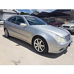 8/2002 Mercedes-Benz C200 Kompressor CL203 2d Coupe Silver 1.8L