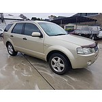 8/2005 Ford Territory GHIA (4x4) SX 4d Wagon Gold 4.0L