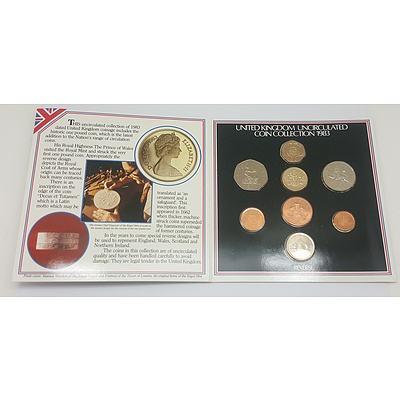 1983 Uncirculated Coin Collection of the United Kingdom
