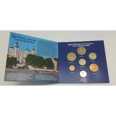 1982 Uncirculated Coin Collection of the United Kingdom