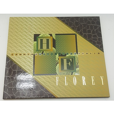 Commemorative Note and Stamp Portfolio - Howard Florey limited edition 1134 of 3500